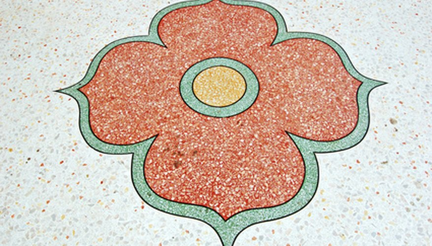 Terrazzo flooring provides beautiful, durable flooring for high-traffic buildings.