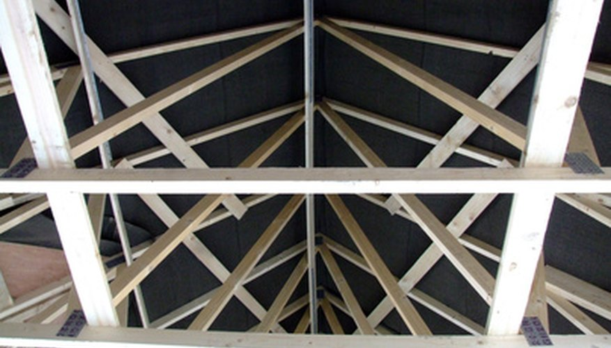 Building a roof with trusses is much faster than traditional framing methods.