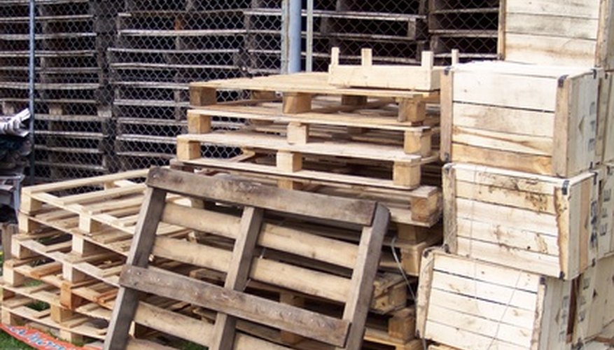 Use pallets for many simple farm projects.