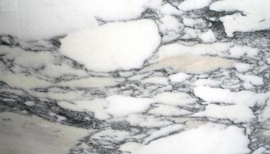 Polished marble is actually ground down to a glossy surface.