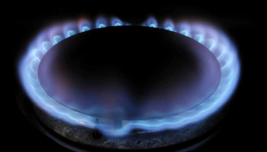 Natural gas flames are clean and efficient.