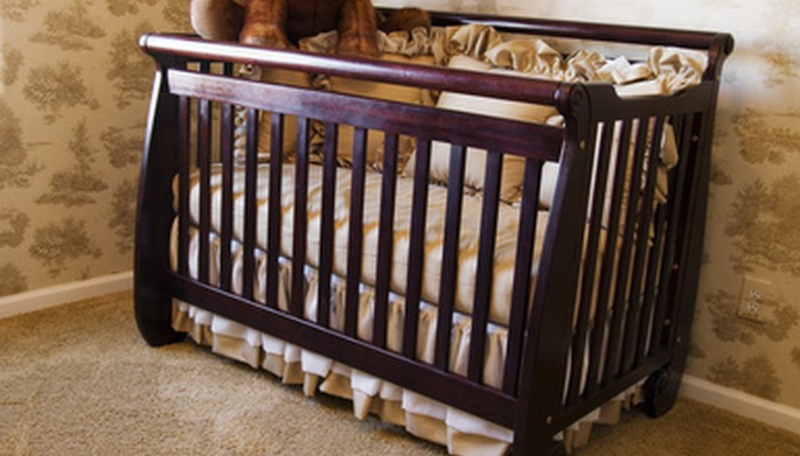 Some cribs can be converted into a headboard for a full-sized bed.