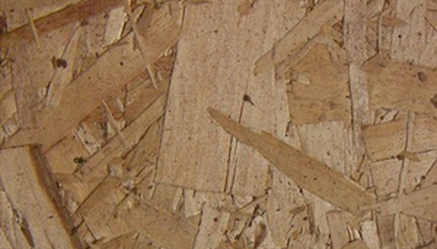 Oriented strand board is made up of larger wood particles than hard board and is generally considered more durable.