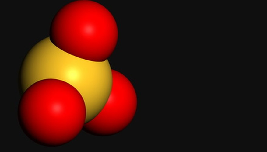 The size of a molecule is measured in three dimensions.