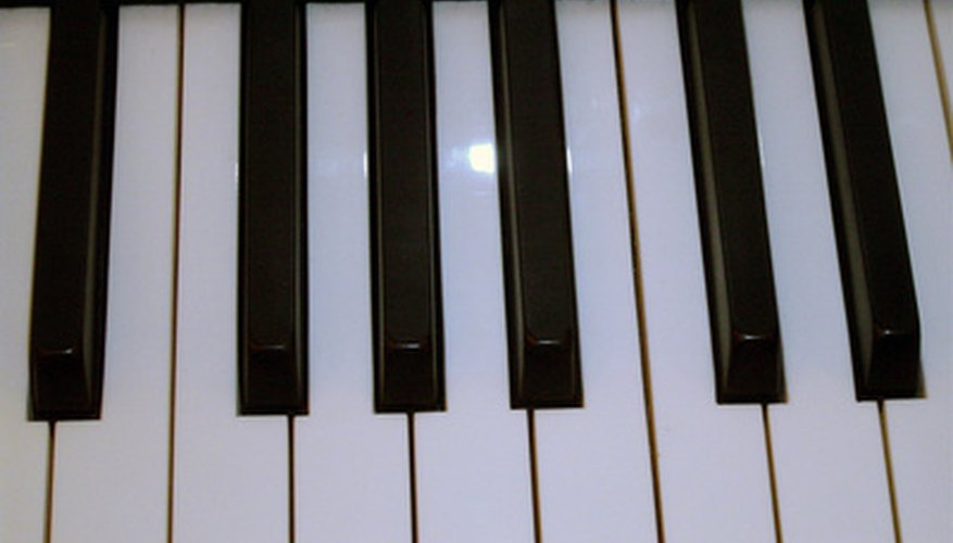 The C key precedes the group of two black keys.