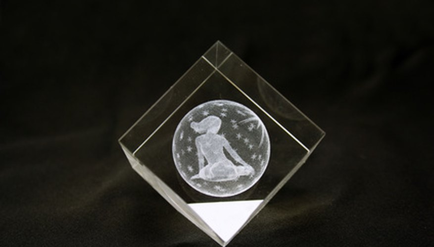 Etch glass by making your own stencils.