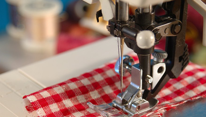 Blind hemming is made easy with modern sewing machines.