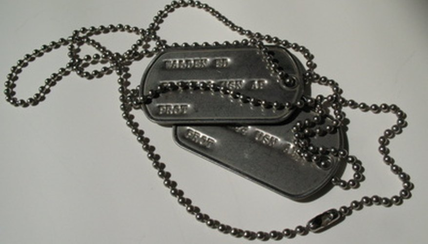 Make your own military dog tags.
