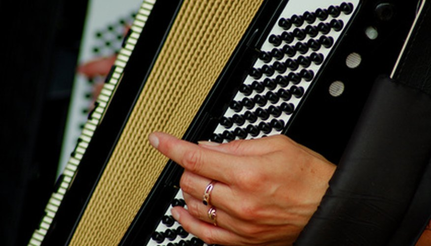 The accordion is one instrument used in merengue music.