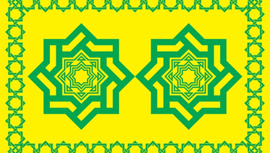 Kids can create crafts using arabesque designs.