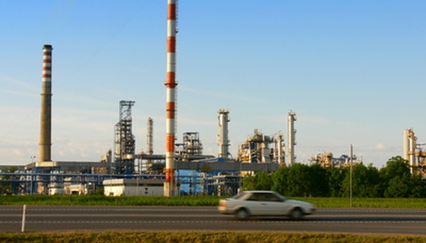 Oil refineries make use of boilers to burn off byproducts of production.