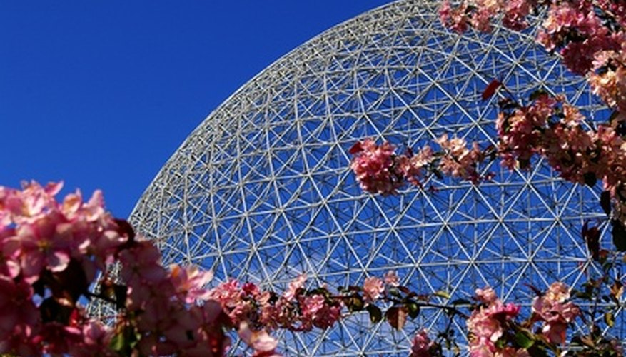 Steel tubing was used to form this geodesic dome.