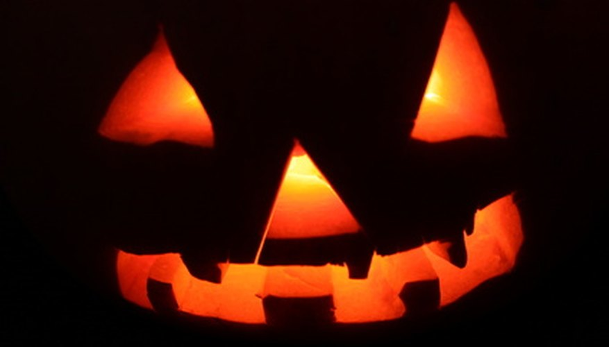 Carved pumpkins are a common sight during Halloween.