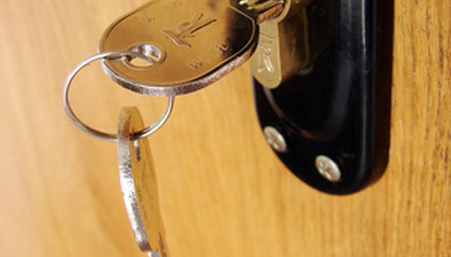Make a home more secure with deadbolts.