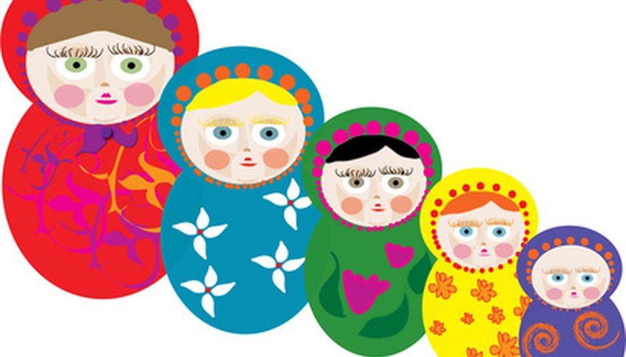 Use pear shapes to make paper Matryoshka Dolls.