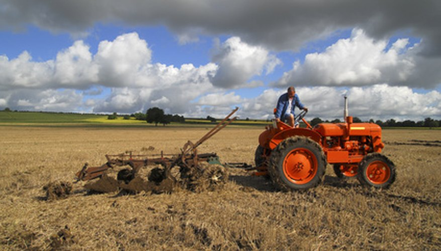 Bottom plows are used in farming.