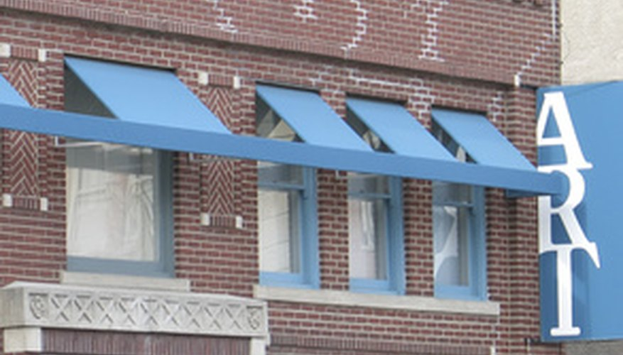 Awnings vary in style; cost depends largely on the size and number of awnings needed.