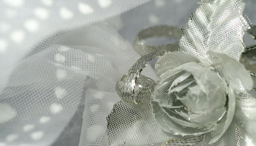 Use tulle for a pretty corsage.