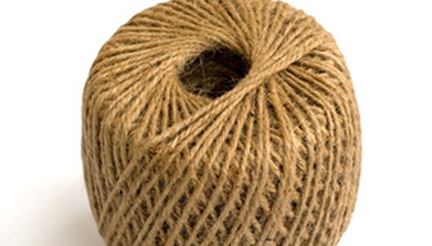 Jute twine, in brown or cream colors, comes in small rolls like this