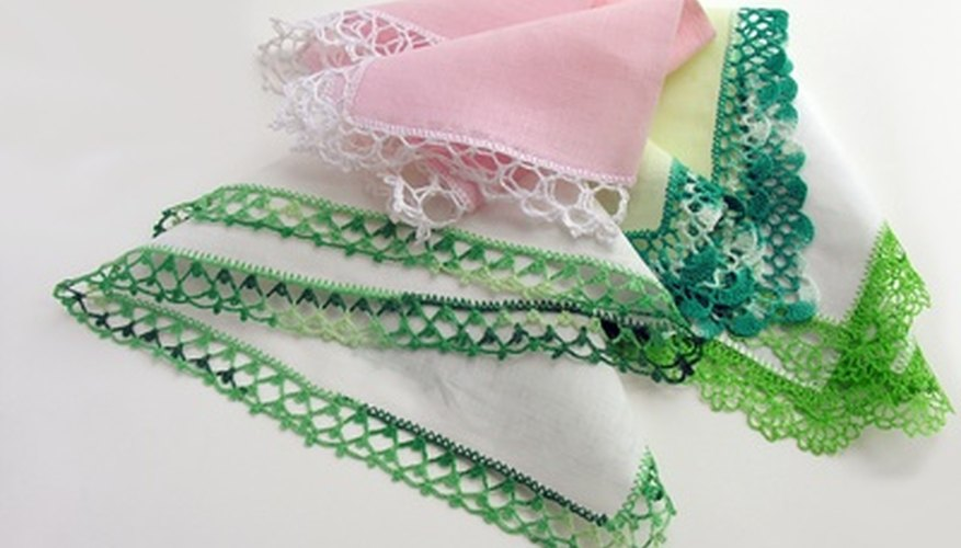 Traditional hankies with crochet borders are irresistably feminine.