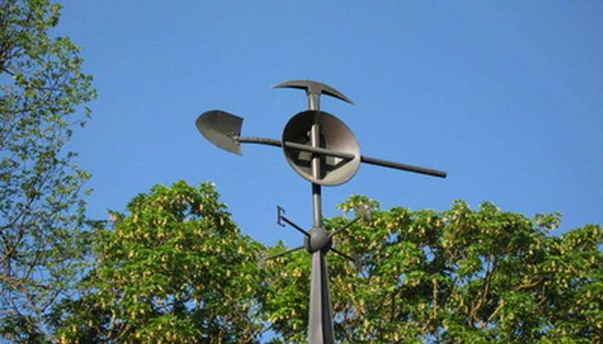 Homemade weather vanes can help you track wind direction.