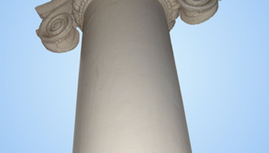 Sonotubes are used to create columns.