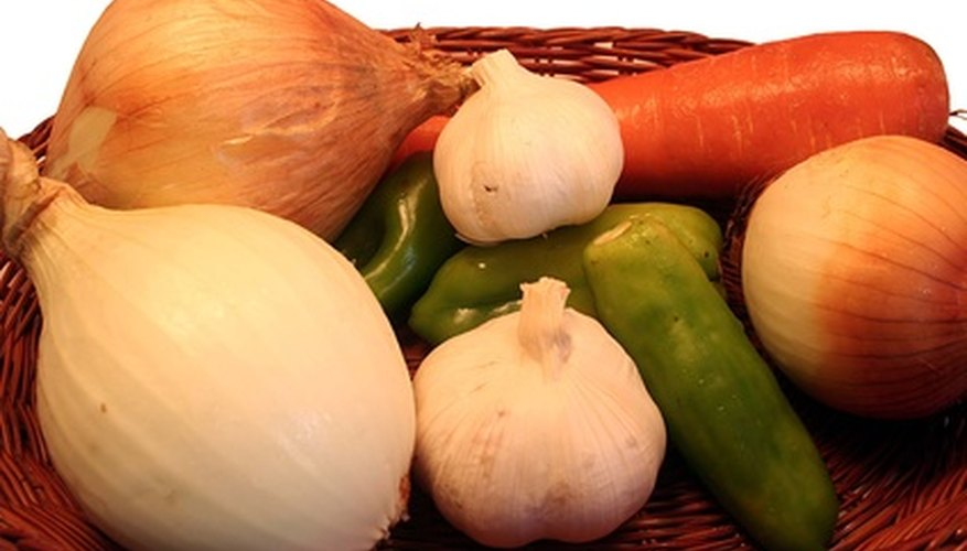 Grow a variety of vegetables in a container garden.