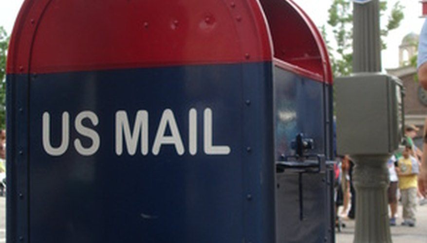 Regulation-size mail with correct postage can be dropped in any U.S. mailbox.