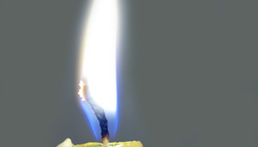 A simple taper candle can be turned into a timekeeping device.