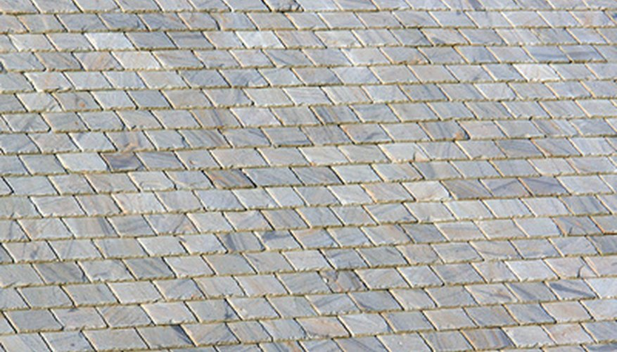 Slate shingles can come in different dimensions.