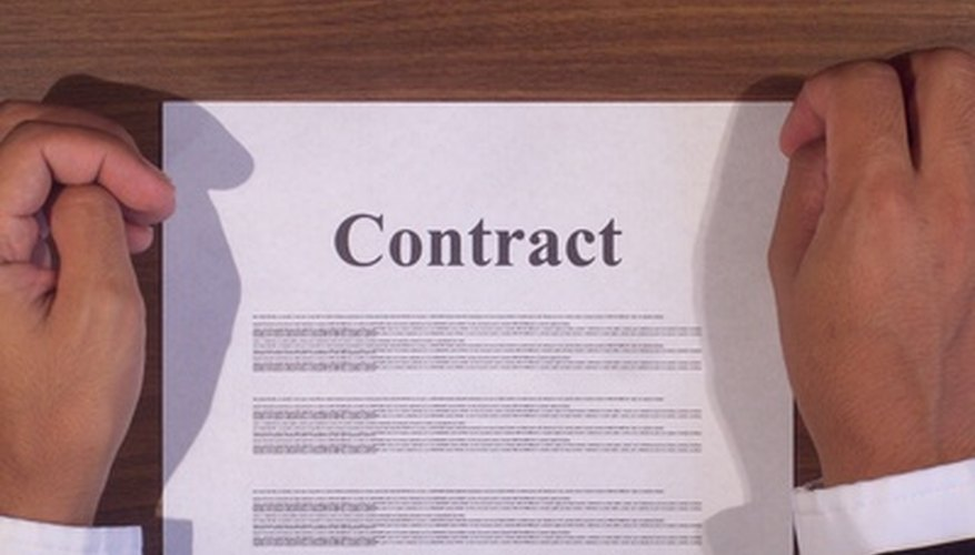 A contract defines the working relationship between two parties.