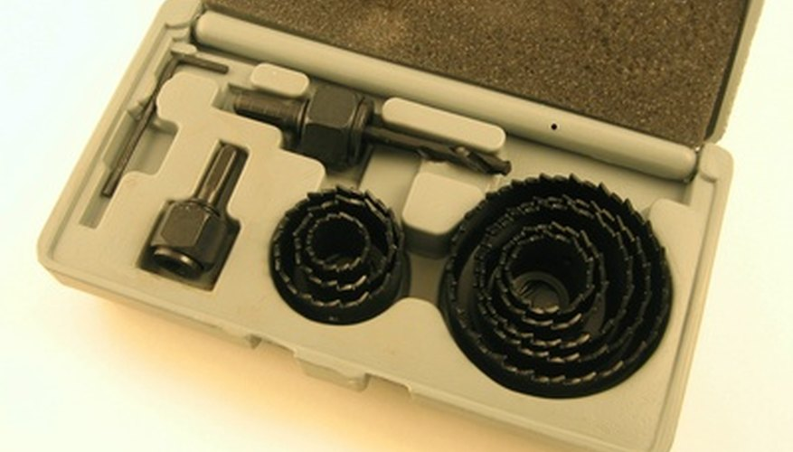 Hole saws come in a wide variety of sizes.