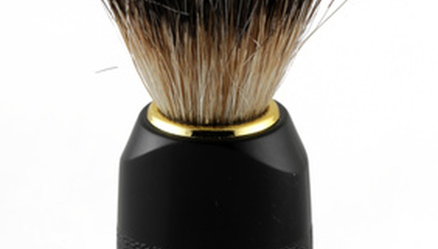 Shaving brushes are handy for cleaning electric equipment.