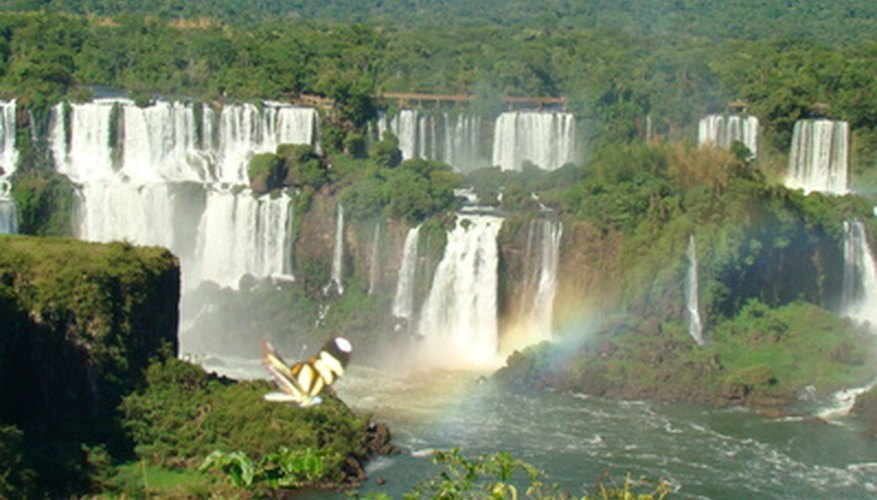 Iguazu Falls is an Amazon waterfall located in Brazil.