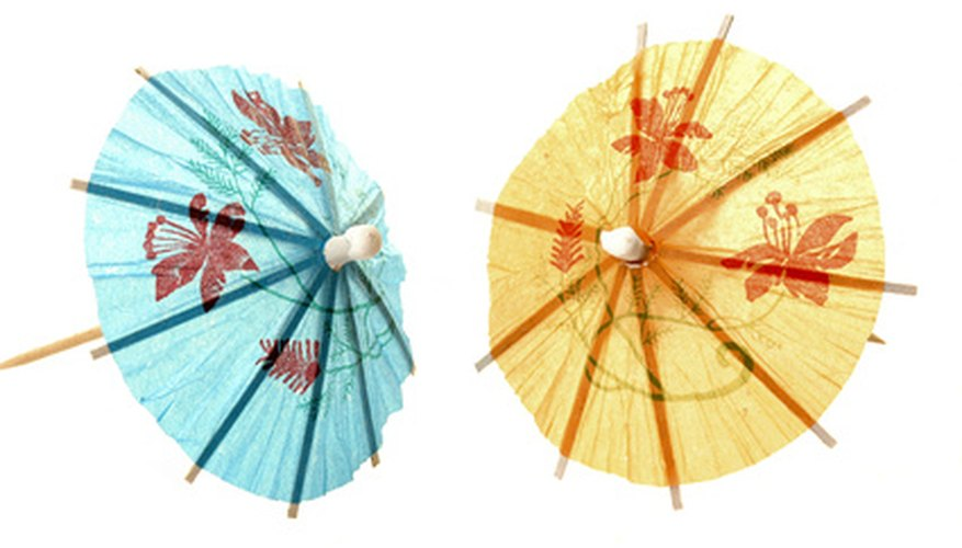 Paper umbrellas add an accent to a mixed drink.