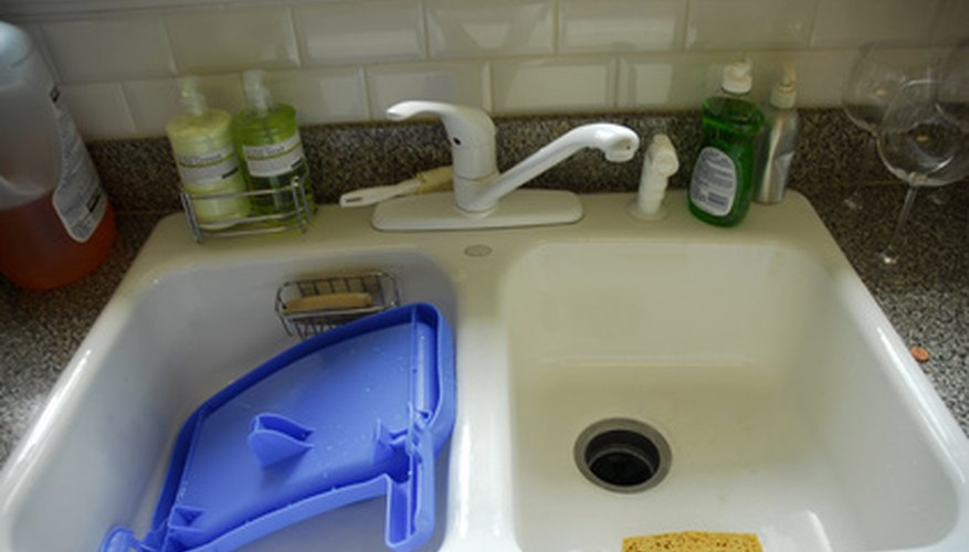 Kitchen sinks become clogged for many different reasons.