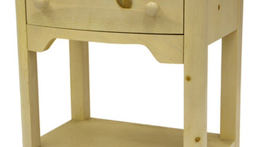 An end table or drawer unit is easy to assemble.