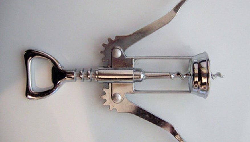 This bottle opener is a complex machine built around a screw.