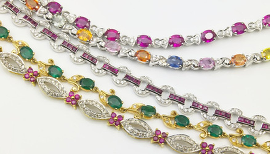 Gems are used in jewelry, including bracelets.