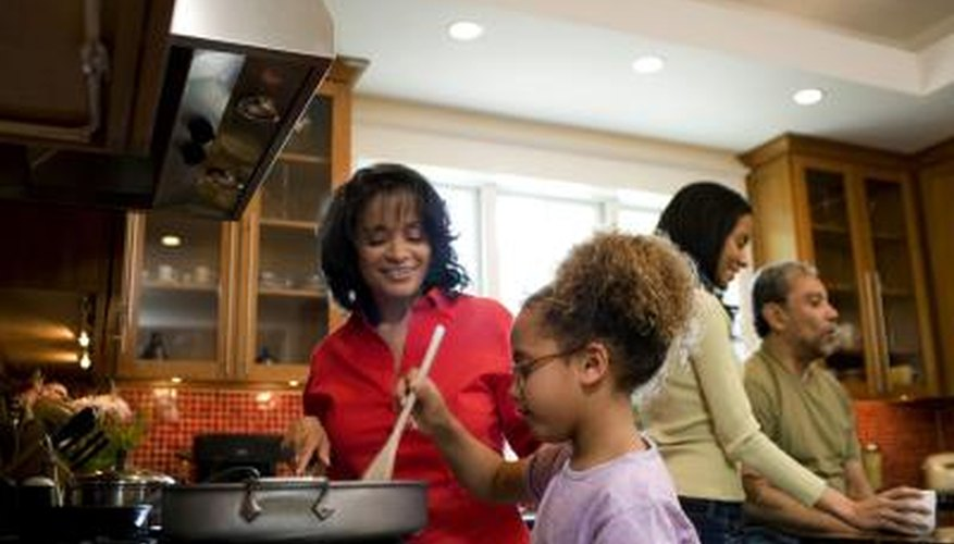 Intercultural relationships combine different cooking and family bonding methods.