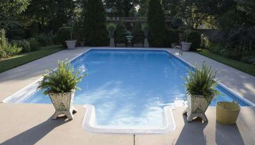 An in-ground pool will hold a lot of water.
