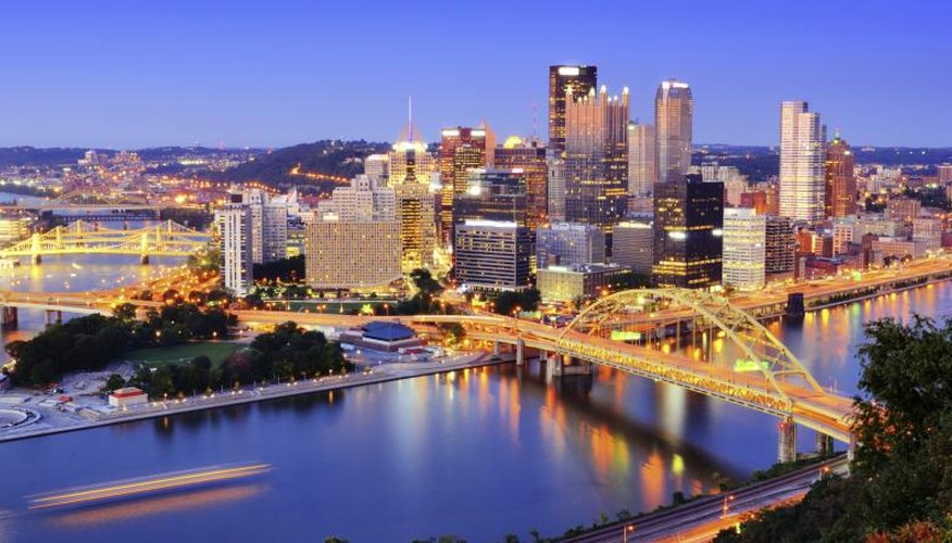 Skyline of Pittsburgh, Pennsylvania.