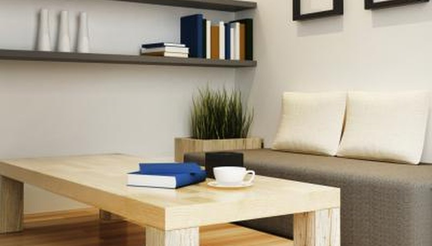 Balance chunky wood furniture with sleek, streamlined pieces and a minimalist look.