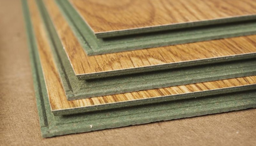 A stack of laminated boards