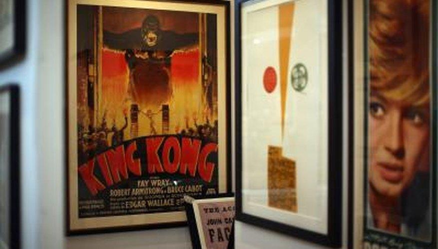 Poster art makes delightful themed decor.