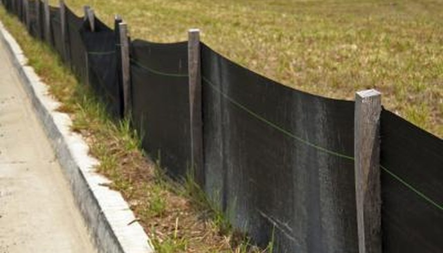 Silt fences are more effective on sites that have sandy soils instead of clay soils.