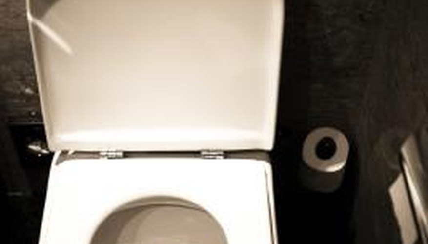 Red stains sometimes occur in the toilet.