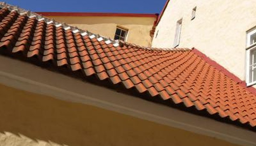 Terra cotta tile roofs add architectural interest and color to the home.