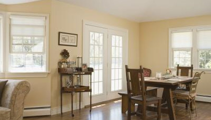 French doors often open up onto a patio or deck.