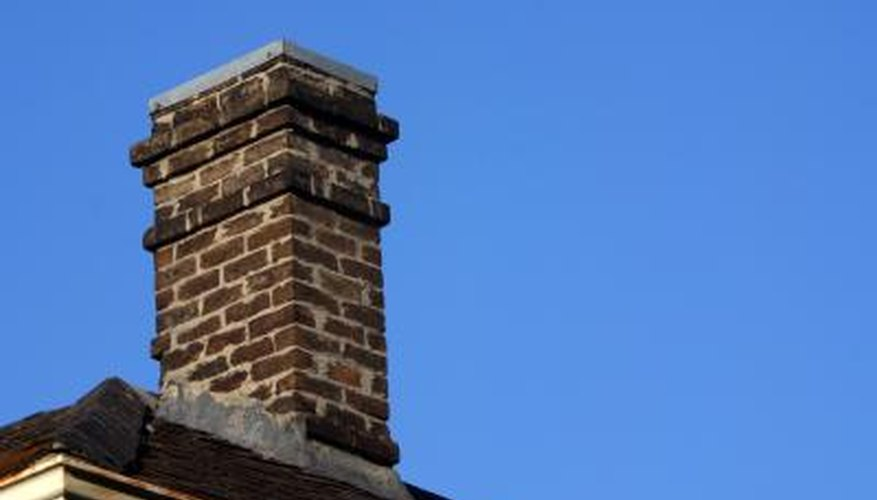 Caps can be installed on brick chimneys.